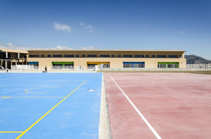 Imagen desde las pistas deportivas Chauchina.