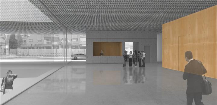 Vista interior de la Escuela de Música y Danza.