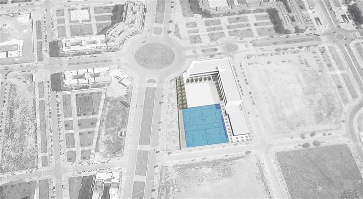 Vista aérea de la propuesta con integración.