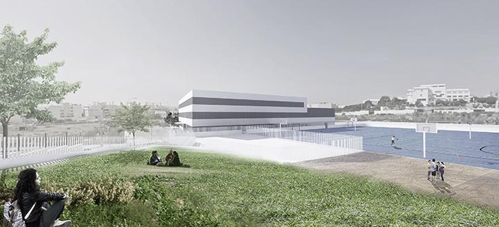 Imagen exterior del nuevo IES en Rincón de la Victoria.